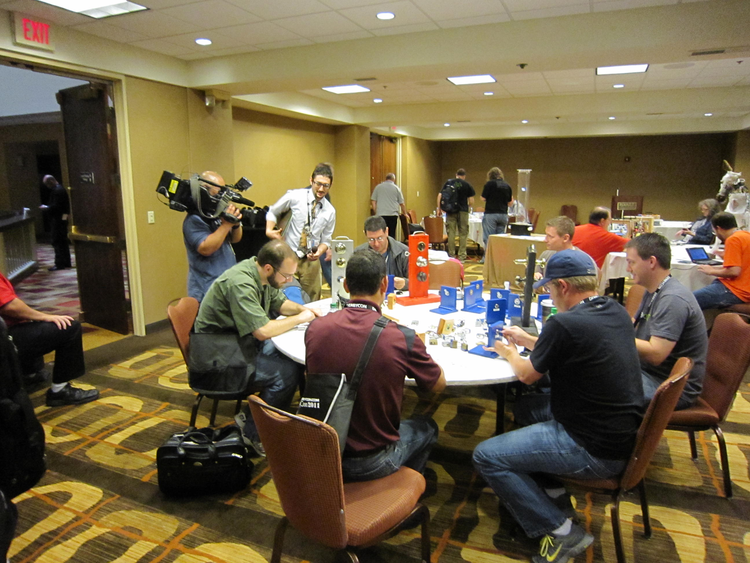 Camera Crew in DerbyCon LP Village